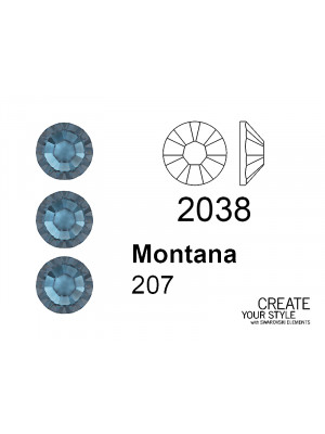 Swarovski Strass Termoadesivo MONTANA - 2038