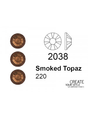 Swarovski Strass Termoadesivo SMOKED TOPAZ - 2038