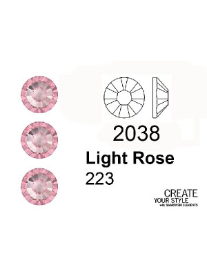 Swarovski Strass Termoadesivo LIGHT ROSE - 2038
