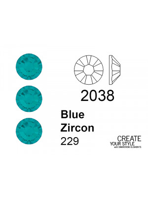 Swarovski Strass Termoadesivo BLUE ZIRCON - 2038