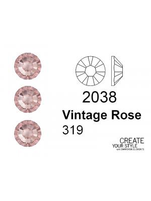 Swarovski Strass Termoadesivo VINTAGE ROSE - 2038