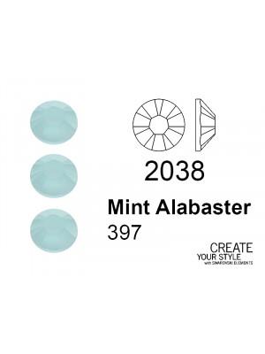 Swarovski Strass Termoadesivo MINT ALABASTER - 2038