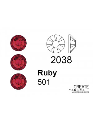 Swarovski Strass Termoadesivo RUBY - 2038