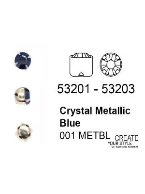 Swarovski Strass da cucito CRYSTAL METALLIC BLUE - 53201 - 53203
