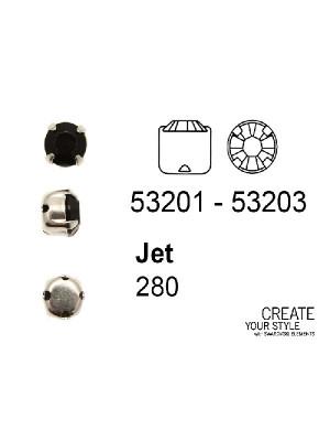 Swarovski Strass da cucito JET - 53201 - 53203