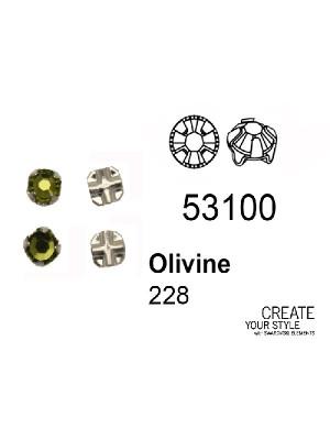 Swarovski Strass da cucito OLIVINE - 53100