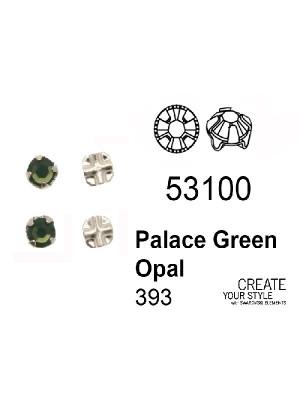 Swarovski Strass da cucito PALACE GREEN OPAL - 53100