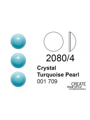Swarovski Strass Termoadesivo (mezza sfera) CRYSTAL TURQUOISE PEARL - 2080/4