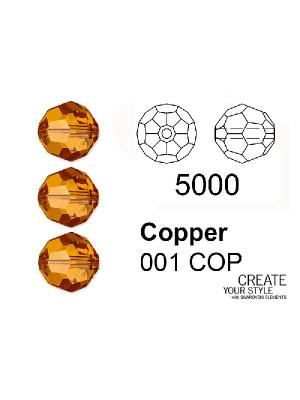 Swarovski Tondo Sfaccettato COPPER - 5000