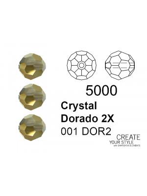 Swarovski Tondo Sfaccettato CRYSTAL DORADO 2X - 5000