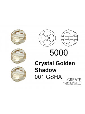 Swarovski Tondo Sfaccettato CRYSTAL GOLDEN SHADOW - 5000