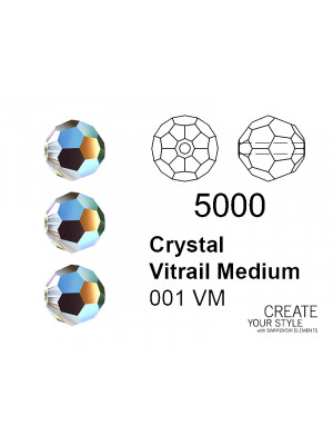 Swarovski Tondo Sfaccettato CRYSTAL VITRAIL MEDIUM - 5000