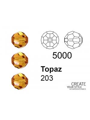 Swarovski Tondo Sfaccettato TOPAZ - 5000