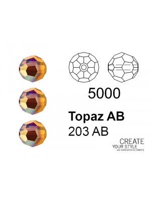 Swarovski Tondo Sfaccettato TOPAZ AB - 5000