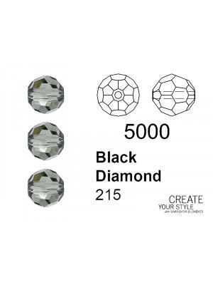 Swarovski Tondo Sfaccettato BLACK DIAMOND - 5000