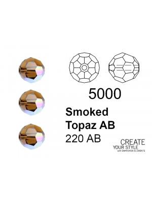 Swarovski Tondo Sfaccettato SMOKED TOPAZ AB - 5000