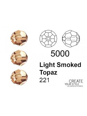 Swarovski Tondo Sfaccettato LIGHT SMOKED TOPAZ - 5000