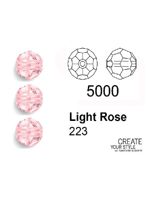 Swarovski Tondo Sfaccettato LIGHT ROSE - 5000