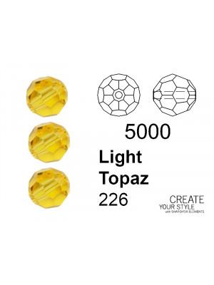 Swarovski Tondo Sfaccettato LIGHT TOPAZ - 5000