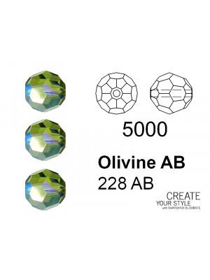 Swarovski Tondo Sfaccettato OLIVINE AB - 5000