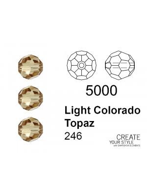 Swarovski Tondo Sfaccettato LIGHT COLORADO TOPAZ - 5000