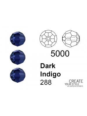 Swarovski Tondo Sfaccettato DARK INDIGO - 5000