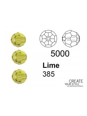 Swarovski Tondo Sfaccettato LIME - 5000