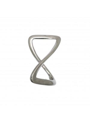 Accessorio a forma di rettangolo, ritorto liscio, 16x27 mm.