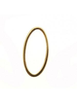 Anello ovale chiuso liscio sottile, 30x15 mm.