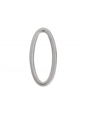 Anello ovale chiuso liscio, 33x15 mm.