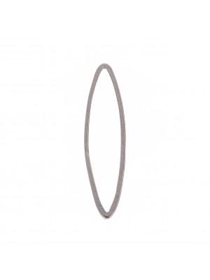 Anello ovale chiuso liscio sottile, 8x29 mm.