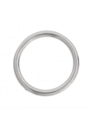Anello tondo chiuso liscio 26 mm.