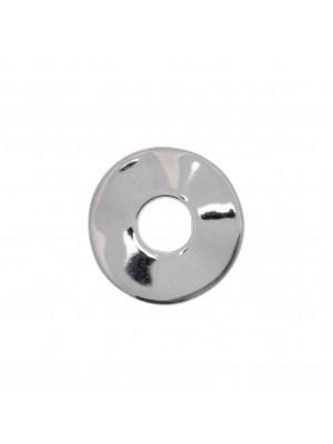 Anello tondo chiuso liscio piatto ondulato 24 mm.