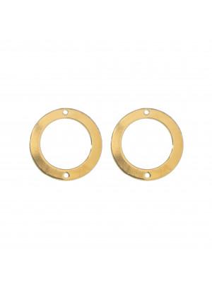Anello tondo chiuso liscio piatto sottile con 2 forti laterali 20 mm.