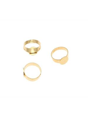 Base per anello, regolabile, a fascia larga e con piastra piatta da 10 mm.