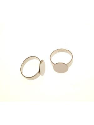 Base per anello, regolabile, a fascia larga e con piastra tonda piatta da 12 mm.