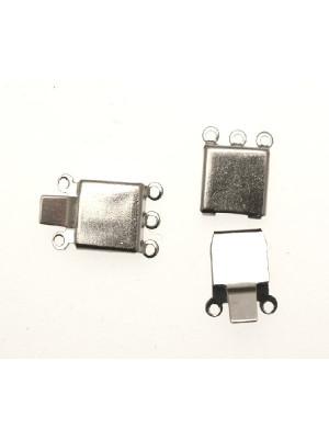 Chiusura a 3 fili quadrata liscia 10 mm.