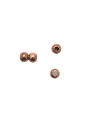 Chiusura a calamita per cordoncino in pelle tubolare, 6x10 mm.