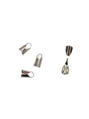 Confezione da 10 pezzi del finalino da incollo per cordoncino o catena tubolare (diametro massimo 4,5 mm.)