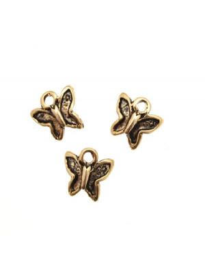 Ciondolo a forma di farfallina mignon ali incavate 10x8 mm.