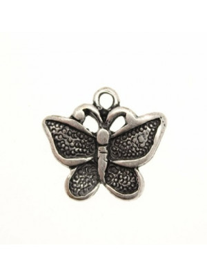 Ciondolo a forma di farfalla media puntinata con 1 anello 14x25 mm.