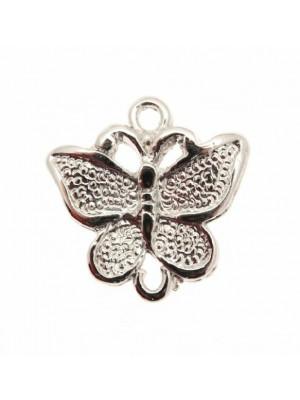 Ciondolo a forma di farfalla media puntinata con 2 anelli 14x25 mm.