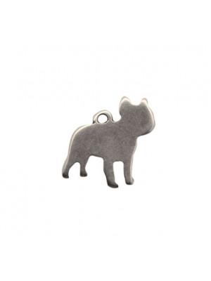 Ciondolo a forma di cane stilizzato, 23x22 mm.