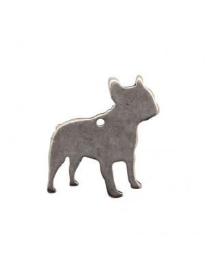 Ciondolo a forma di cane stilizzato, 31x31 mm.