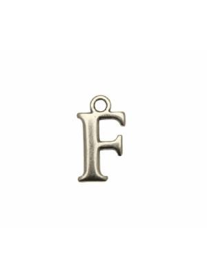 """Ciondolo a forma di lettera """"F"""", 9x16 mm."""