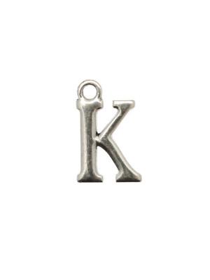 """Ciondolo a forma di lettera """"K"""", 10x16 mm."""