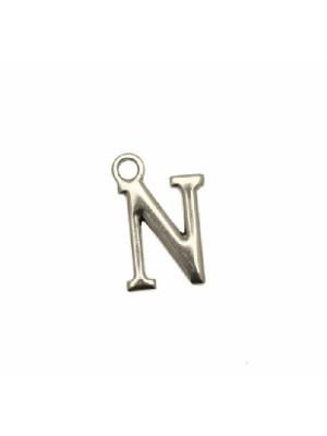 """Ciondolo a forma di lettera """"N"""", 10x16 mm."""