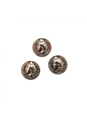 Ciondolo a forma di medaglia con disegno medaglia francese, 12 mm.