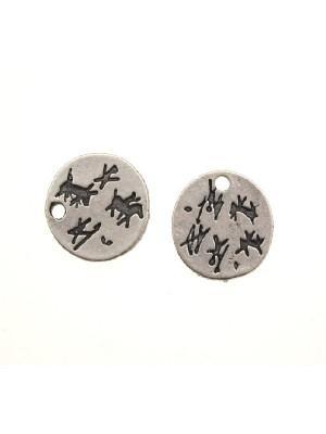 Ciondolo a forma di medaglia cinese con 1 foro 16 mm.