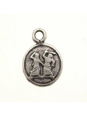 Ciondolo a forma di medaglia con sumeri e 1 anello 15 mm.